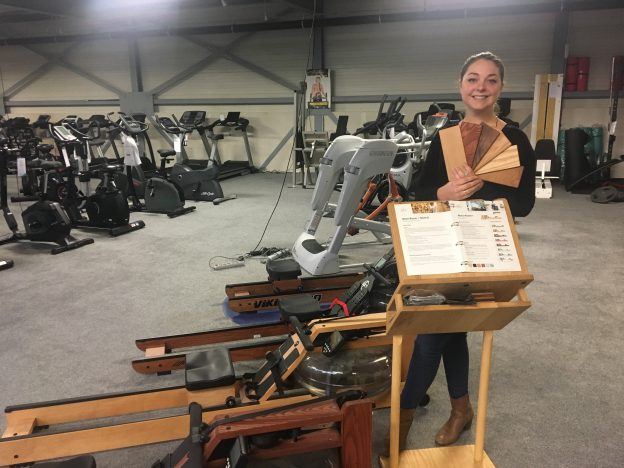 Marissa met de waterrower