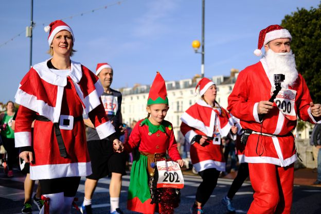 Hardlopen met kerst Santa Run