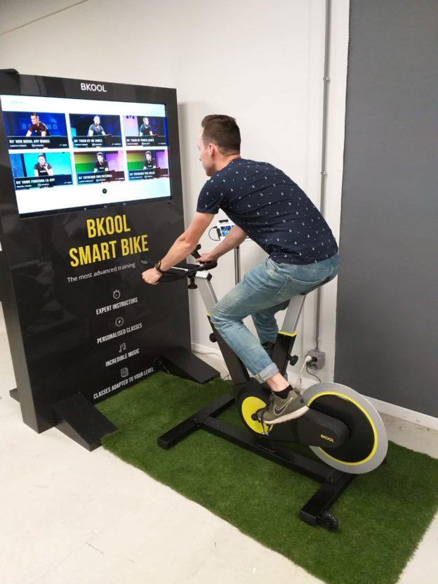 Applicatie op de Bkool Smart Bike