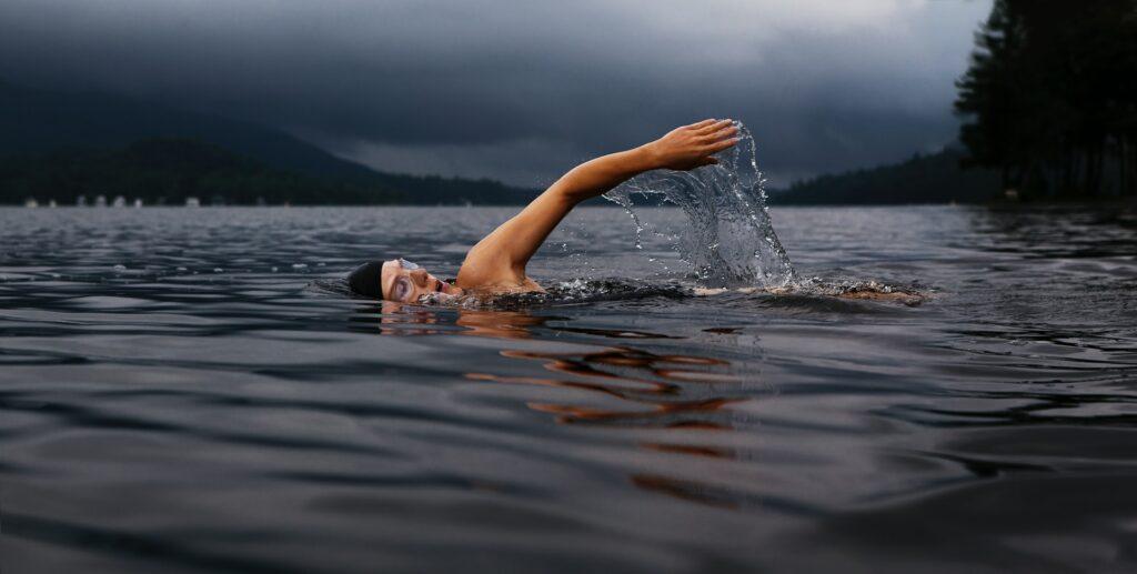 Zwemmen is een goed voorbeld van aerobe training